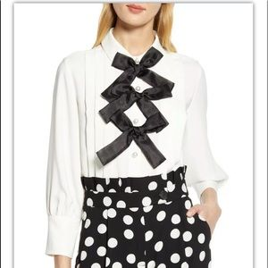Halogen X Atlantic Pacific bow blouse 7587